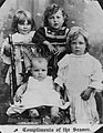 Group portrait of young girls on Christmas card, Queensland, 1910-1920 (5279596344).jpg
