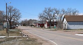 Grover, Colorado - County Road 120 3/4, Grover's main street.