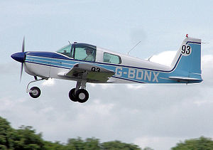 Grumman American AA-1 - 1975 Grumman AA-1B Trainer taking off.