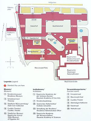Munich Residenz - Plan of the Residenz