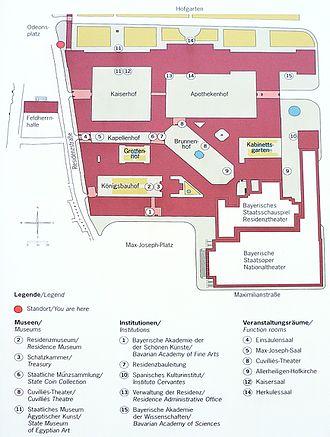 Munich Residenz - Plan of the Residenz