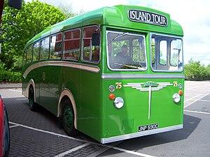Transport in Guernsey - Former Guernsey bus - now preserved UK
