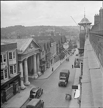 Guildford - Guildford High Street in 1945