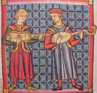 plucked string instrument of the Medieval period in Europe