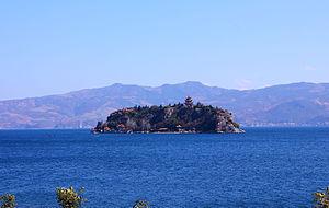 Fuxian Lake - Gushan Hill in Fuxian Lake.