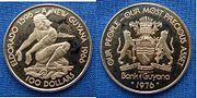 Guyana, Republic, 100 Dollar Gold Coin 1976 Proof