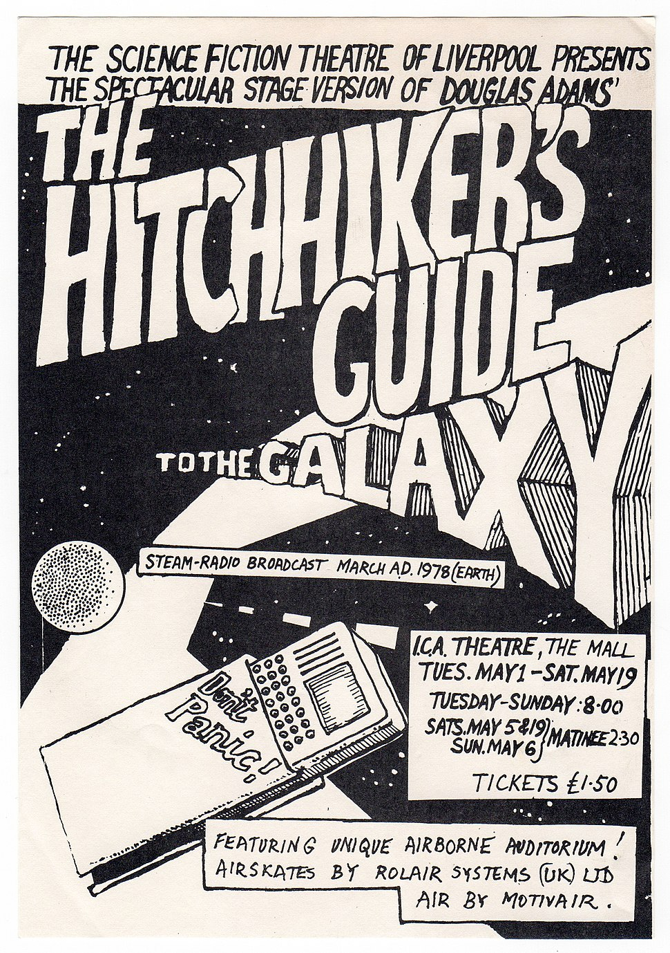 HHGTHG 1979 ICA Stage Production Flyer