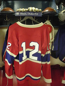 HHOF July 2010 Canadiens locker 04 (Moore).JPG