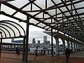 HK Central Waterfront Promenade n covered Public Pier 10 Ten Nov-2012 view K11 Kln.JPG