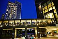 HK WCD Wan Chai North Harbour Road Central Plaza visitors footbridge view blue sky night July 2021 S64.jpg