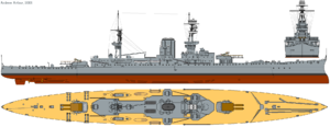 HMS Glorious (1917) profile drawing.png
