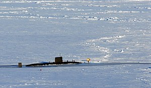 HMS Tireless on Prudhoe Bay