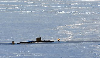 Prudhoe Bay, Alaska - Image: HMS Tireless (S88) in ice