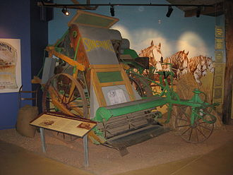Hugh Victor McKay - HV McKay Harvester on display at the Campaspe Run Rural Discovery Centre, Elmore, Victoria, Australia.
