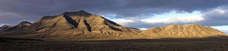 Hacha Grande, a mountain in the south of Lanzarote, viewed from the road to the Playa de Papagayo.