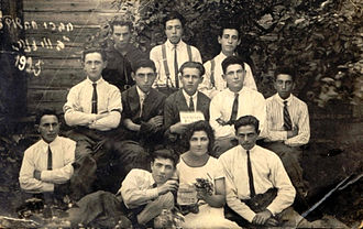 Wizna - Members of the Hachalutz youth movement in Wizna - 1925