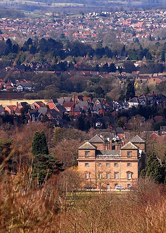 Hagley - View from Hagley Hall towards West Hagley