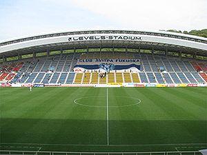 J2 League - Image: Hakata no mori stadium day