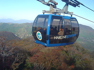 Hakone Ropeway - The current Hakone Ropeway.