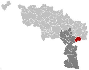 Ham-sur-Heure-Nalinnes - Image: Ham sur Heure Nalinnes Hainaut Belgium Map