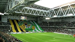 A Terrace Choreography From Hammarby Supporters During A Game Against Orebro Sk In