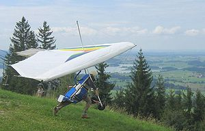 Hang glider start hill aug2004