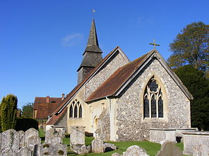 Hannington, Hampshire - Image: Hannington Church