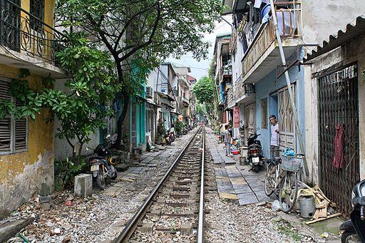 Hanoi railroad tracks
