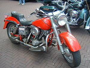 Harley-Davidson FL - Customized Shovelhead Electra Glide with Twin-Cam Electra Glide in background
