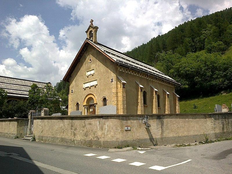 Hautes Alpes Arvieux Eglise Protestante