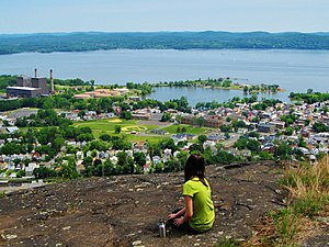 Village of Haverstraw from atop High Tor Mountain
