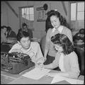 Heart Mountain Relocation Center, Heart Mountain, Wyoming. Albert Saijo, second semester editor of . . . - NARA - 537163.tif