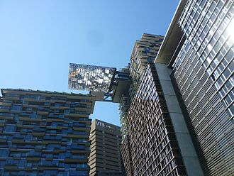 One Central Park - Heliostat at One Central Park with UTS tower in background