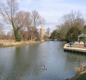 Hemingford Grey - St James' Church, alongside the Ouse