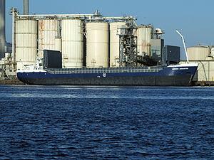 Hendrika Margaretha - IMO 9057238 - Callsign PDRZ at Port of Amsterdam.JPG
