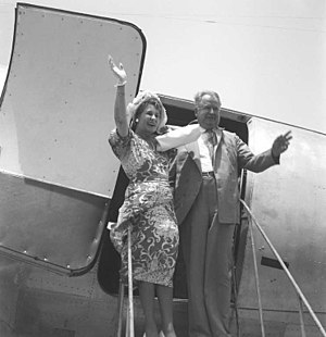 Henry F. Grady - Henry F.Grady, U.S. Ambassador-designate to India, and his wife on their arrival at Willingdon aerodrome, New Delhi, on June 25, 1949.