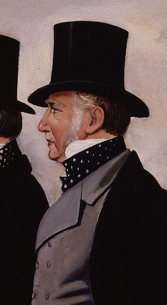 Henry John Rous - Detail of a portrait of Henry John Rous with George Payne, by G. Thompson