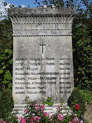 Henry Veillon (1865–1932) Physiker, Uni Professor. Grab auf dem Friedhof Wolfgottesacker, Basel
