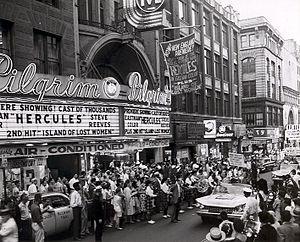 Hercules (1958 film) - Image: Hercules Boston Premiere