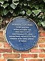 Herrington Park, Sunderland, blue plaque.jpg