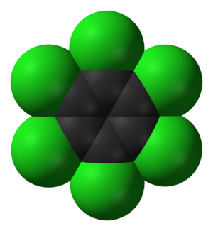 Hexachlorobenzene - Image: Hexachlorobenzene 3D vd W