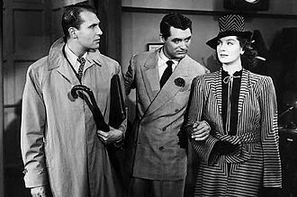 Rosalind Russell - With Cary Grant and Ralph Bellamy in His Girl Friday (1940)