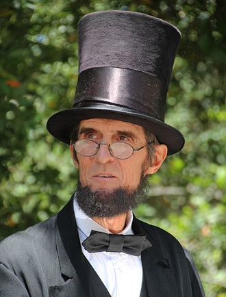 Cultural depictions of Abraham Lincoln - An Abraham Lincoln reenactor in 2015