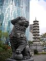 Holloway Circus - Beetham Tower, Guardian Dog and the Chinese Pagoda (3621875317).jpg