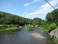 Hoosic River upstream from West Main St, North Adams MA.jpg