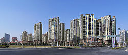 Horizon Resort development in the west bank of Jinji Lake