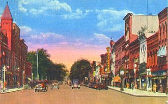 Hornell, New York - Main Street, Hornell in the 1920s