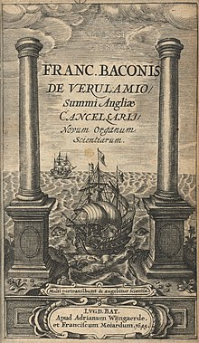 The title page illustration of Instauratio magna