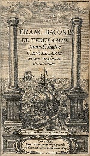 Novum Organum - The title page illustration of Instauratio magna