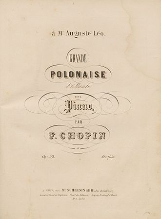 Polonaise in A-flat major, Op. 53 - 1843 publication